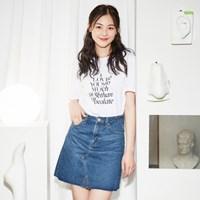 R넥레귤러 레터링 티셔츠 RMHW726GM2