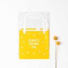 패키징 선물포장 비닐백 5매 (중) 01.젤리옐로우