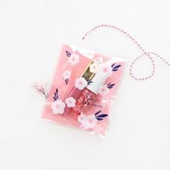 패키징 선물포장 비닐 10매 (접착) 02.블루밍부케