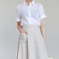 Linen half blouse