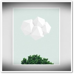 구름과 나무[알루미늄 메탈 액자/4컬러]_(1596342)