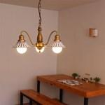 boaz 엔틱3등 팬던트 LED 카페 식탁등 인테리어조명