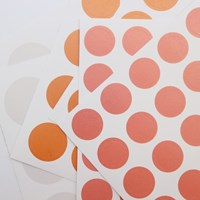 3 Color Dot Sticker (Beige, Orange, Rose pink)