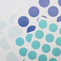3 Color Dot Sticker (Light blue, Blue, Mint)