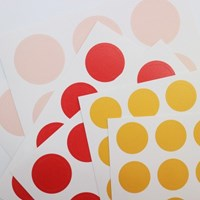 3 Color Dot Sticker (Light pink, Red, Yellow)