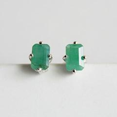 에메랄드 다이아 귀걸이(5월탄생석)emerald dia earring