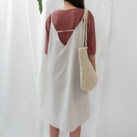 Simple linen sleeveless ops