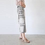 Bandana wrap long skirt