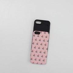 NBH-0068 미니 수박 패턴 핑크 슬라이더케이스