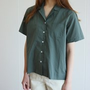TWO WAY HALF SHIRTS-GREEN