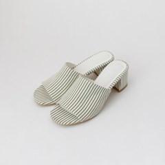 Stripe summer mule