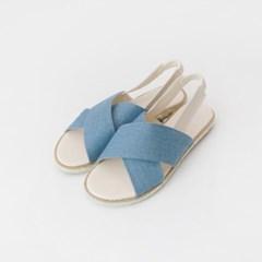 Denim x-strap sandal