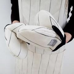 [pin stripe] mini gloves_ivory