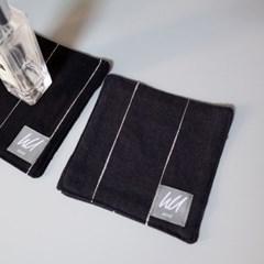 [pin stripe] coaster_charcoal