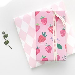 딸기가조아 포장지(3개)