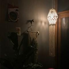 Macrame Hanging Lampshade_인테리어 전등갓