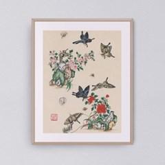 나비와 꽃들 시리즈3 갤러리액자 by하얀달(334759)