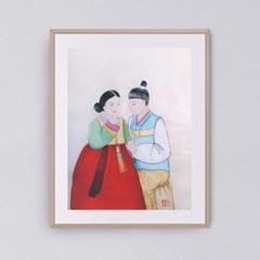 행복 부부도2 갤러리액자 by하얀달(333894)