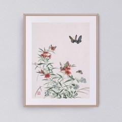 나비와 꽃들1 갤러리액자 by하얀달(335236)