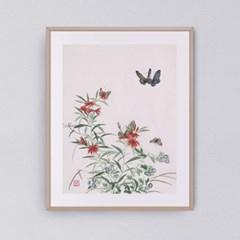 나비와 꽃들2 갤러리액자 by하얀달(335320)