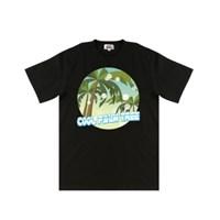 [지플랫] 쿨 팜트리 반팔 티셔츠 (BLACK)_(694480)