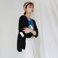 Two-way button cardigan