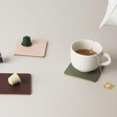 FLAT coaster (컵받침) _ pistachio