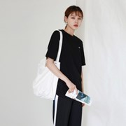 Wide canvas bag