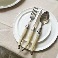 라귀올 테이블 양식기 베이지(마블)