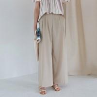 Pintuck wide long pants