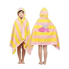 [아동비치가운S]도톰한 비치타올/목욕가운_옐로우