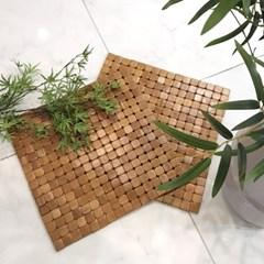 [한일카페트] 디자인 마작 대나무 방석 라운드