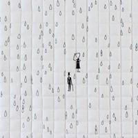[Fabric] 1인치사각퀼팅_런던날씨, 비옴