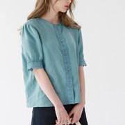 Lace linen blouse