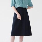 Linen A long skirt