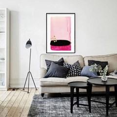패브릭포스터 추상화 거실 인테리어 핑크블랙
