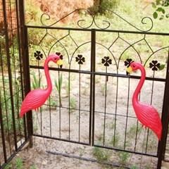 플라밍고 정원 장식(스칼렛 색상)