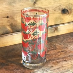 커먼키친 Retro strawberry glass