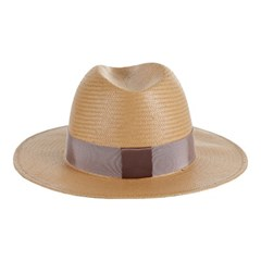 [바잘] Standard brim panama hat brown_right brown