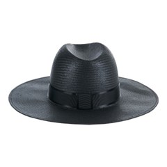 [바잘] Wide brim panama hat black