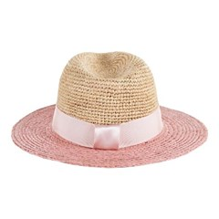 [바잘] Two tone panama hat baby pink