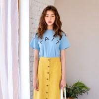 팻 레터링 티셔츠