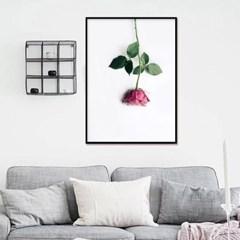 패브릭포스터 거실그림액자 장미 꽃그림