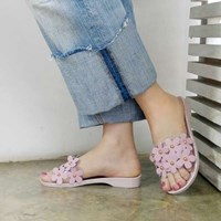 kami et muse Clear band top jelly slippers_KM17s282