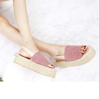 kami et muse Espadrille with stitch platform sandals _KM17s286