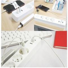 칭미 USB 멀티탭 3구 3포트 3.1A 멀티콘센트
