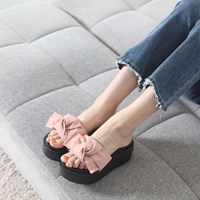 kami et muse Tied ribbon top platform slippers_KM17s299