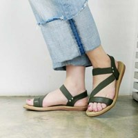 kami et muse Elastic band comfort flat sandals_KM17s296