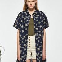 패턴 셔츠 미니원피스_(486579)