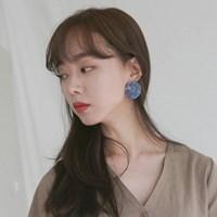 70 - stone marbling earring